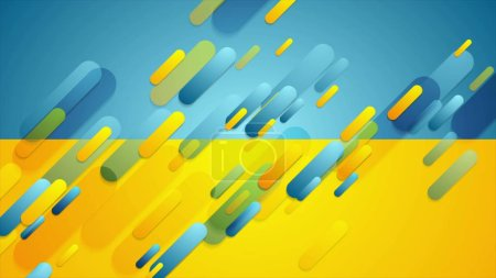 Photo for Blue and yellow contrast tech corporate background - Royalty Free Image