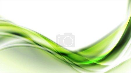Photo pour Vert abstrait coulant dynamique vagues fond - image libre de droit