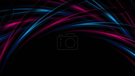 Photo for Blue and purple abstract curved shapes background - Royalty Free Image