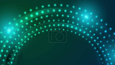 Neon led lights abstract circle background
