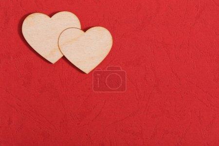 Foto de Fondo de San Valentín con corazón rojo - Imagen libre de derechos