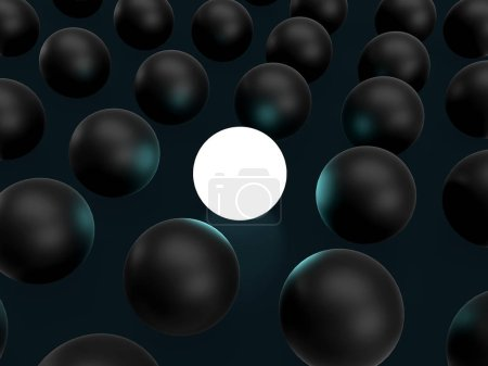 Photo for Standing out of the crowd. 3D rendering - Royalty Free Image