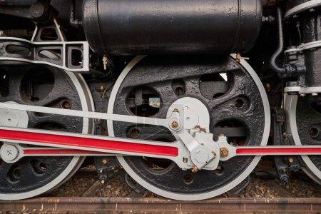 Locomotive à vapeur gros plan