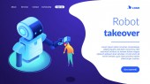 Human-robot interaction isometric 3D landing page