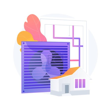 Photo for Ventilation system abstract concept vector illustration. Mechanical ventilation, airing and cooling system maintenance, exhaust fan, new air flow exchange, improve air quality abstract metaphor. - Royalty Free Image