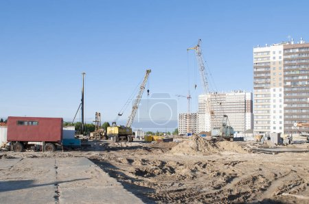 Photo for The construction equipment on a building site. - Royalty Free Image