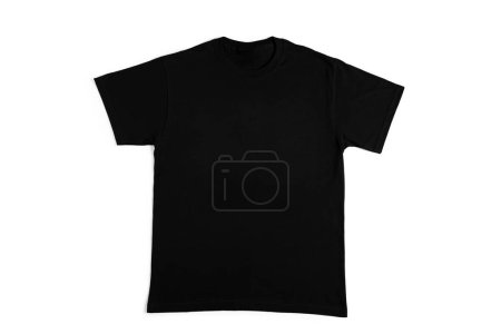 blank black tshirt isolated on white background