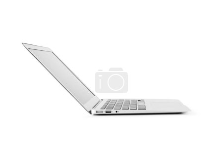 Photo for Modern laptop computer isolated on the white background - Royalty Free Image