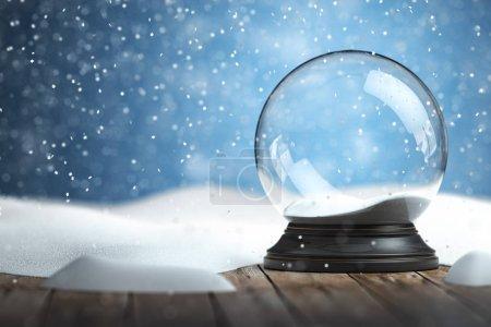 leere Schneekugel Weihnachten Hintergrund