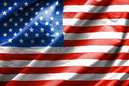 Photo pour Gros plan du drapeau des usa - image libre de droit