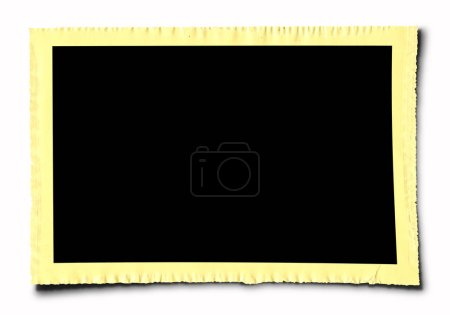 Photo for Old Photo Frame on white - Royalty Free Image
