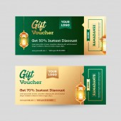 Gift coupon or voucher layout with different discount offer and