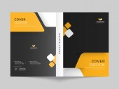 Cover design or brochure template layout for business or corpora