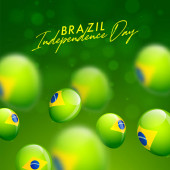 Brazil Independence Day celebration card or poster design decora