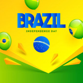 Brazil Independence Day poster or template design decorated with