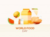 World Food Day concept based poster design with food elements li