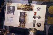 VALLETTA, MALTA - APR 10, 2018 - Iron Cross and other memorobilia of German Panzer Afrika Korps from World War II, Fort St Elmo War Museum, Valletta, Malta