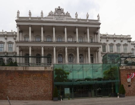 VIENNA, AUSTRIA - MAY, 22: Palais Coburg, also known as Palais Saxe-Coburg, It was owned by the Kohary branch of the House of Saxe-Coburg and Gotha on May 22, 2018