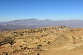 Typical yemeni landscape nearby the capital Sanaa. Yemen