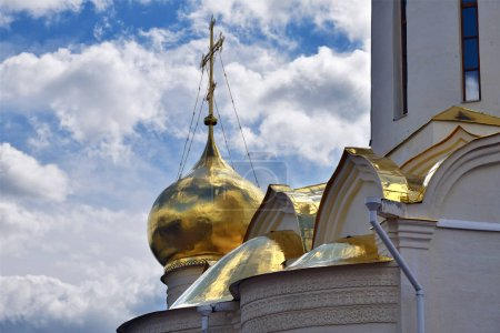 The Church of St. Nikon of Radonezh in The Trinity Lavra of St. Sergius. The most important Russian monastery and the spiritual centre of the Russian Orthodox Church in the town of Sergiyev Posad