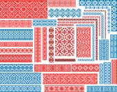 Set of Seamless Ethnic Patterns for Embroidery Stitch