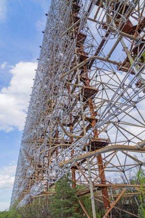 Photo pour Ancien système radar Duga militaire dans la zone d'exclusion de Tchernobyl, Ukraine - image libre de droit