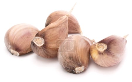Photo for Garlic cloves isolated on white background cutout - Royalty Free Image