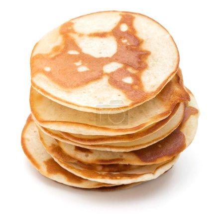 Pancakes  stack on white background...