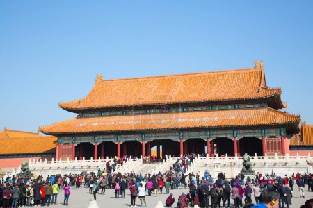 BEIJING, CHINA - OCTOBER 14, 2017: Forbidden City (Palace museum), Chinese imperial palace from the Ming dynasty to the end of the Qing dynasty
