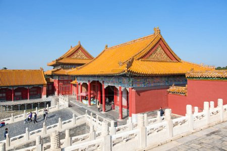 BEIJING, CHINA - OCTOBER 14, 2017: Forbidden City (Palace museum), Chinese imperial palace from Ming dynasty to end of Qing dynasty (1420 to 1912).