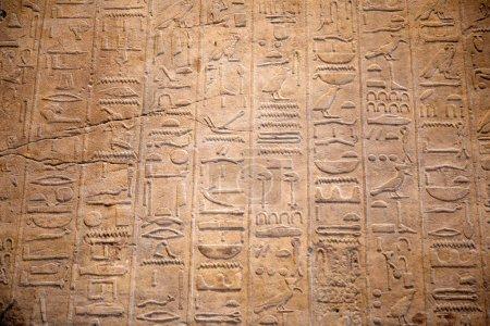 Photo pour Hiéroglyphes égyptiens sur le mur - image libre de droit