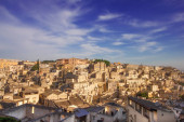 The old town of Matera, Unesco World Heritage site in Basilicata, Italy