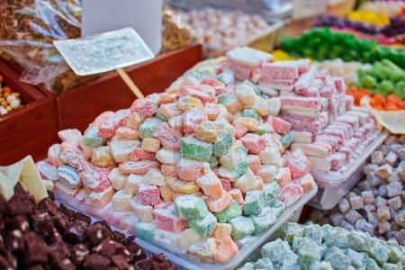Turkish traditional sweets rahat lukum