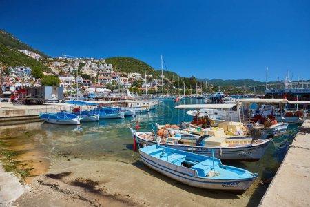 Yacht port in a picturesque Mediterranean lagoon