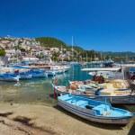 Yacht port in a picturesque Mediterranean lagoon...