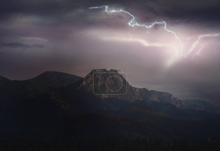 Large thunderstorm in Tatra Mountains