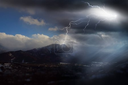 rapidly changing weather in the mountains