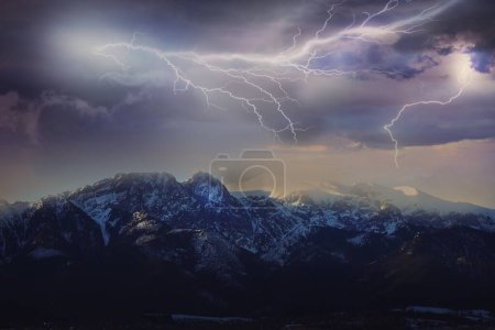 Large thunderstorm in Polish Mountains