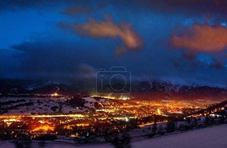 Photo for Poland and Zakopane city by night - Royalty Free Image