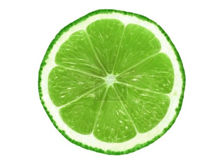Photo pour Tranche de lime juteuse isolée sur fond blanc - image libre de droit