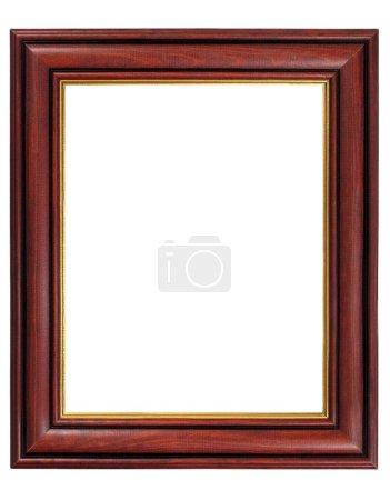 Foto de Marco madera de rectángulo aislado sobre fondo blanco - Imagen libre de derechos