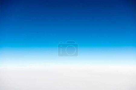 Photo for White clouds on blue clear sky for nature background - Royalty Free Image