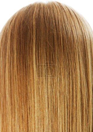 Длинные светлые волосы, изолированные на белом .