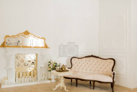 classical style sofa in vintage room