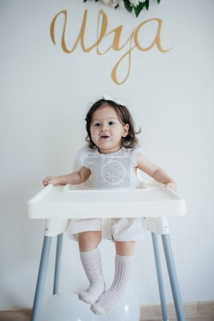 Cute Little Girl in Dress   ,Happy Childhood Concept