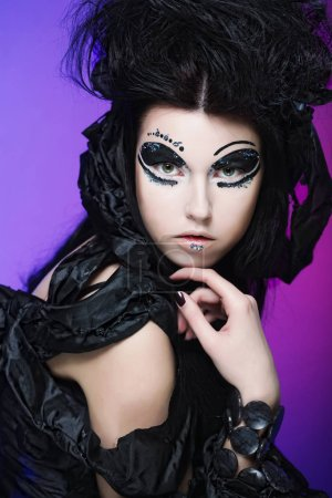 halloween queen with gothic make