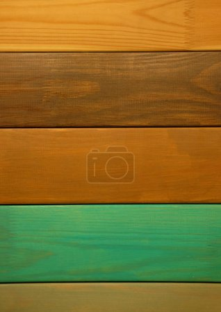 Photo for Assortment of laminated flooring samples, parquet boards,  in hardware store, close up - Royalty Free Image