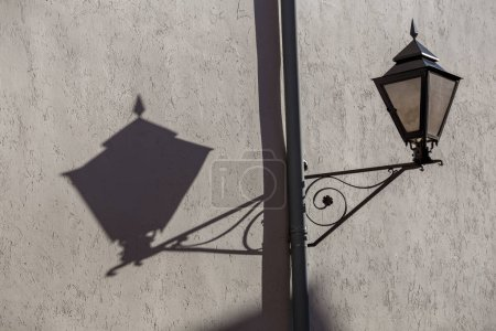 Photo for Interesting picture from a lamp and the shadows - Royalty Free Image