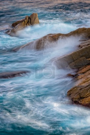 Photo for Nice waves in a Spanish coastline, Costa brava with long exposure - Royalty Free Image