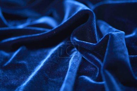 luxury blue soft textile, close-up